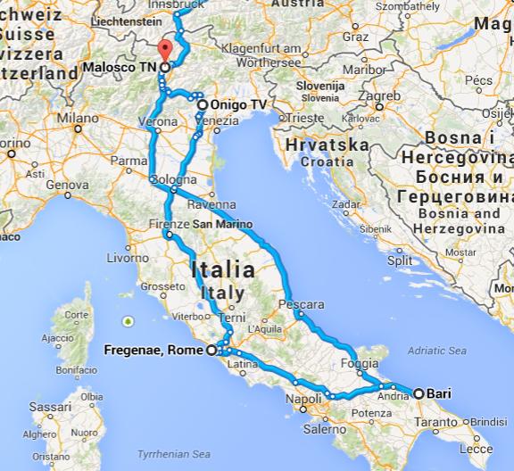 Italien-tour